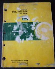 John Deere Schlepper 8100 + 8200 + 8300 +8400 Anleitung