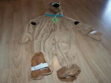 Toddler Size 3-4T Scooby Doo Puppy Dog Plush Halloween Costume Jumpsuit Rubies