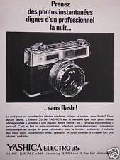 PUBLICITÉ APPAREIL PHOTO YASHICA PHOTOS INSTANTANÉES DIGNES D'UN PRO LA NUIT ...