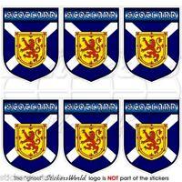 "SCOTLAND Scottish Shield UK British 40mm (1.6"") Mobile Phone Stickers-Decals x6"