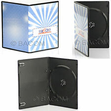 50 Custodie DVD Singole SLIM Nere - BOX Nero SLIM per 1 DVD/CD Sped. Gratuita!