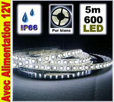 A819/5# Strip LED Blanc étanche 120LED/m  5m + alim
