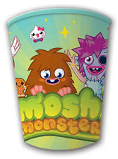 MOSHI MONSTERS CHILDRENS BIRTHDAY PARTY DISPOSABLE CUPS 8 PACK NEW
