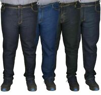 Men Jeans Straight Leg Stretch Denim Trouser Pants All Waist Big Tall King Sizes
