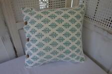 Craft Studio Hamptons Calm Teal Mist 100 Cotton Piped Cushion Cover 40cm