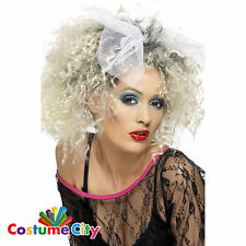 Smiffy's Adult Womens Sexy Glam 80s Long Blonde Curly Wig Costume Accessory