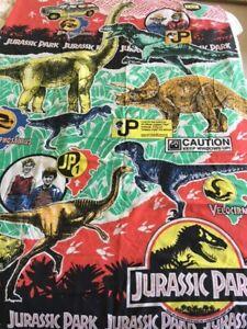 Jurassic Park Single Duvet Cover and Pillowcase Vintage Original 1990s Dinosaurs