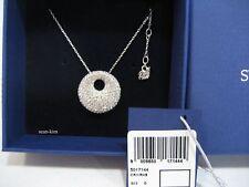 Swarovski Stone Medium Pendant Organic Clear Crystal Rhodium-Plated - 5017144