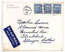 DD225 1947 CANADA Nashwaaksis New Brunswick CDS Airmail Glasgow{samwells-covers}