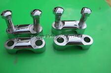 4 chrome handlebar CLAMPS + 4 chrome BOLTS BSA A B C M +Triumph 65-5333 65-5334