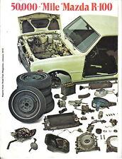 Mazda R100 Rotary Coupe 1972 Original Road Test Brochure 1969-72 models