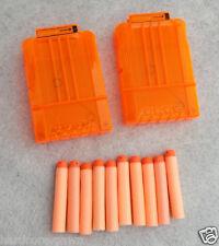 NERF N strike Elite - x 2x 6 FULL CLEAR DART CLIPS - Magazine ammo - dart gun