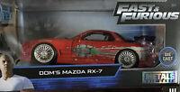 New Jada Fast & Furious Dom's Mazda Rx-7 Metals Die Cast 1/24 1:24 Scale Model