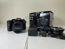Panasonic LUMIX G85 16.0MP Camera 12-60mm Lens in Box 4 Batteries 3 Chargers