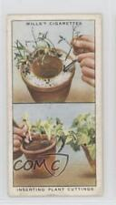 1938 Wills Garden Hints Tobacco Base #46 Inserting Plant Cuttings Card 1md