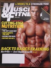 MUSCLE and FITNESS Magazine March 2006 Cutting-Edge Nutrition (EB7) LNC