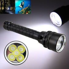 Underwater 20000Lm Scuba Diving XM-L T6 LED Flashlight Pro Torch Lamp Light 100M