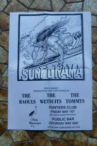 Warwick Gilbert poster Radio Birdman Surf O'Rama 1998  Original