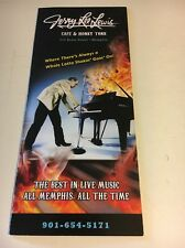 Jerry Lee Lewis Cafe &Honky Tonk Memphis Brochure