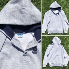 Rare VTG 80s Gray Disney White Tag Epcot Center 50/50 Hoodie Sweat Shirt L