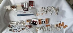 Huge Lot Dollhouse Miniatures Building Supplies Furniture *4 pounds!*