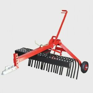 STICK RAKE 1200mm 4ft Landscape Stick Rake - Tow Behind ATV Part No.: RATVLR4