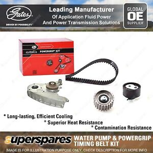 Gates Water Pump & Timing Belt Kit for Iveco Daily 33S13 35S13 35C13 35S15
