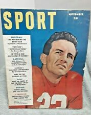 New listing Sport Magazine November 1950 Harry Agganis Boston University