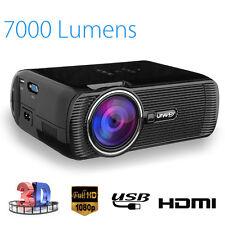 7000 Lumens Multimedia LED WIFI Home Cinema Projector 1080p HD Video HDMI USB