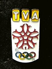 CALGARY '88 15th Winter Olympics TVA BROADCASTING PUBLISHING Media pin Very Rare
