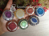 One (1) Set of Chakra Orgone Round for Orgone Reiki Healing Sacred Geometry