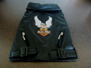 Fabulous Biker dog jacket - new and unworn - small