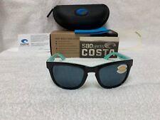 d28e685eeed NEW Costa Del Mar Copra Polarized Sunglasses Black   Mint Gray 580P COP 176  OGP
