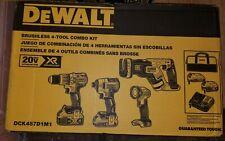 DeWalt DCK487D1M1 20V MAX XR Brushless Cordless Lithuim-Ion 4-Tool Combo Kit