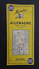 Carte MICHELIN old map n°205 ALLEMAGNE DEUTSCHLAND 1959 Bibendum pneu tyre
