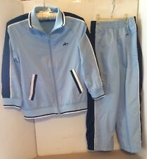 Youth SIZE 8 2 piece LIGHT BLUE Strip FULL ZIP Jacket Pants ATHLETECH Boys