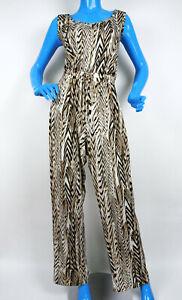 Calvin Klein Womens Sleeveless Jumpsuit 10 M Geo Print Summer Wrinkle Resistant