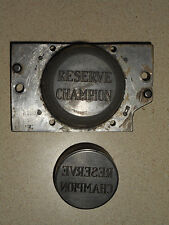 Reserve Champion Jewelry Stamping Die Hub Hob Equestrian Horse Ribbon Medal Mold