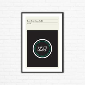 Black Mirror Season 4, Episode 4: Hang the DJ Minimalist Movie Poster