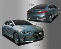 Fog Lamp Cover Garnish Chrome Molding Silver C696 for Hyundai Elantra  2017~2018