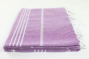 Turkish Beach Towel Fouta Peshtemal Hammam Bath Spa Sauna Various Colors HQ