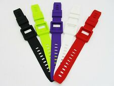 Lot of 5 Colors Silicone Watch Band Wrist Strap Case Skin for Apple iPod Nano 6