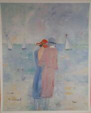 Monique LEINERT Femmes sur la plage Poster signé P1689