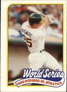 1989 O-Pee-Chee Oakland Athletics Baseball Card #174 Mark McGwire