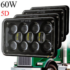 "DOT Approved 60W 4x6"" Led Headlights DRL for Chervolet Kenworth Peterbilt Trucks"