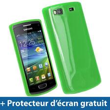Vert Étui Housse Case Brillant TPU pour Samsung Wave 3 S8600 Bada 2.0 GT-8600