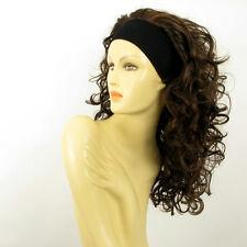 parrucca con bandana donna semi-lunga cioccolato mechato rame ODESSA 6H30 PERUK