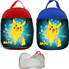 Pickachu Pokemon #1 Personalised Childs Lunch Bag