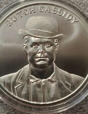 Butch Cassidy 1 oz .999 silver Wild West Legend Gun slinger colt 45 sundance kid