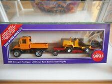 Siku Mercedes Unimog + Dumper Truck in Orange on 1:55 in Box  (Siku nr: 2232)